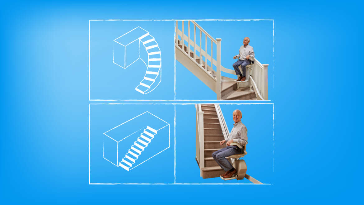 What is the Difference Between Curved and Straight Stair lifts?